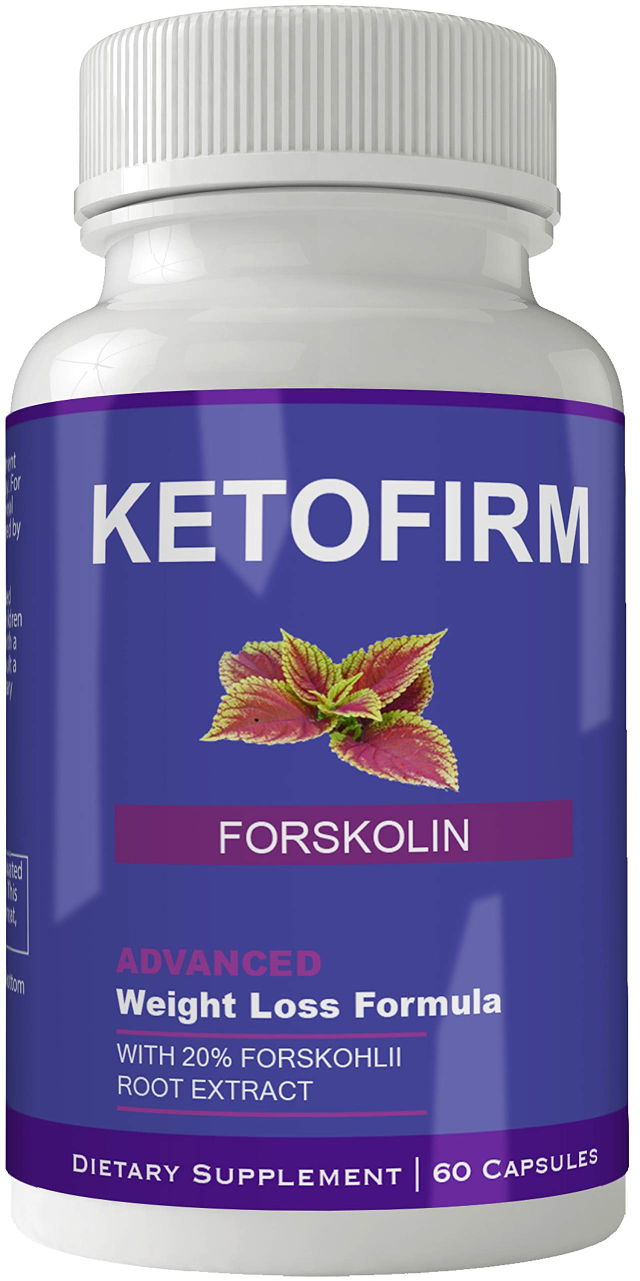 Ketofirm Forskolin Supplement for Weight Loss Capsules with Natural High Quality Pure Forskolin Extract Diet Pills