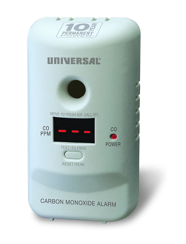 Black ZEERKEER /Carbon Monoxide Detector Digital LCD Display Gas Carbon Monoxide Alarm Electronic Equipment Power Detection Equipment Alarm Clock Warning