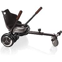 ACBK Hoverboard Noir Gyropode Trottinette Éléctrique Auto-Équilibrage 6.5 Pouces + Hoverkart Noir