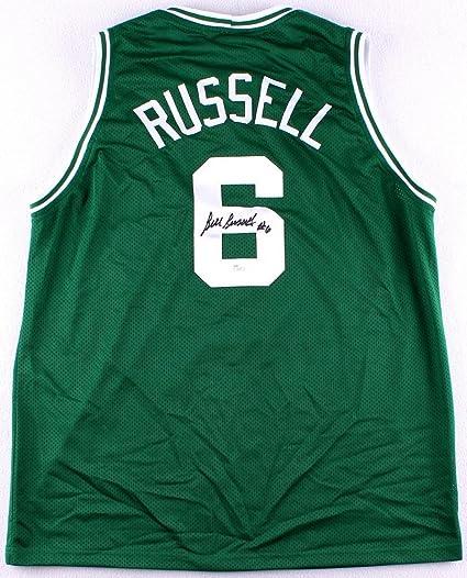sale retailer 77ffa 086e5 Bill Russell Autographed Green Celtics Jersey - Hand Signed ...