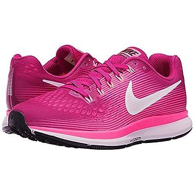 buy popular bc888 032d0 Amazon.com   Nike Air Zoom Pegasus 34 Sport Fuchsia White Lava Glow Racer  Pink Women s Running Shoes   Road Running
