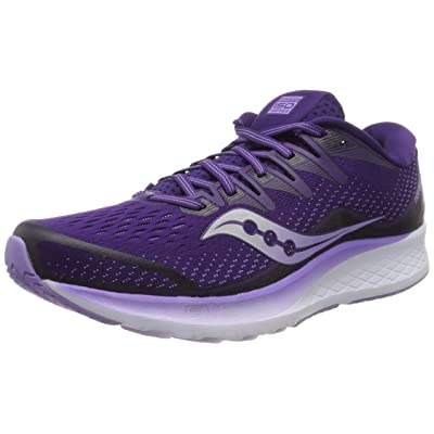 Saucony Women's Ride ISO 2 Running Shoe, Purple, 10 M US | Road Running