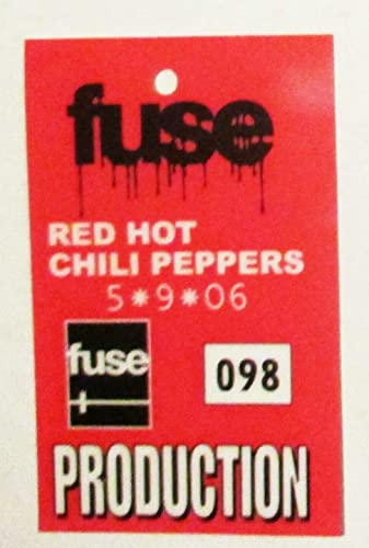2006 Red Hot Chili Peppers Plastic Backstage Production Pass