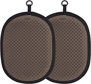 OXO Good Grips Silicone Pot Holder, Black (2 Pack)