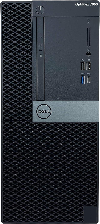 Dell OptiPlex 7060 Tower Desktop - 8th Gen Intel Core i7-8700 6-Core Processor up to 4.6 GHz, 32GB DDR4 Memory, 512GB Solid State Drive, 2GB Nvidia GeForce GT 1030, DVD Burner, Windows 10 Pro (64-bit)