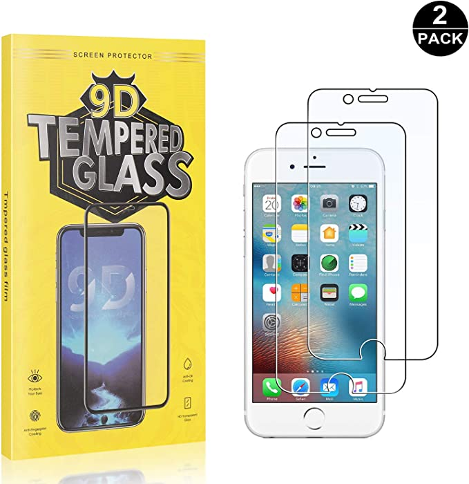 Anti-Fingerprint Scratch-Resistant FCLTech iPhone 6 // iPhone 6s Screen Protector Tempered Glass 2 Pack Tempered Glass Screen Protector Suitable for Apple iPhone 6 // iPhone 6s
