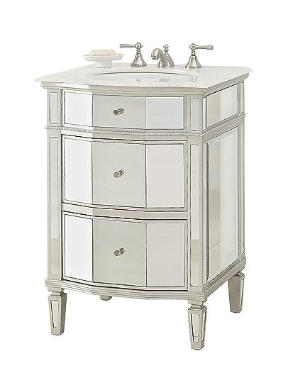 24 All Mirror Petite Bathroom Sink Vanity Ashlie Model Hf006