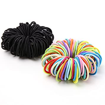 Munax Girls Hair Bands Ties Elastics Toddler Ponytail Holders Tiny Soft  Rubber Bands for Baby Kids e0858df773a