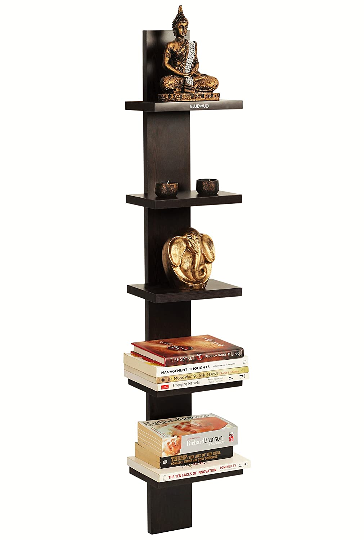 Bluewud Louis Wall Decor Shelf Display Rack Wenge 5 Shelves S LO W5 Amazonin Electronics