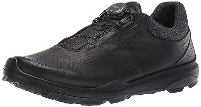 0825b0b8f26 ECCO Men's Biom Hybrid 3 Boa Gore-Tex Golf Shoe, Black Yak Leather,