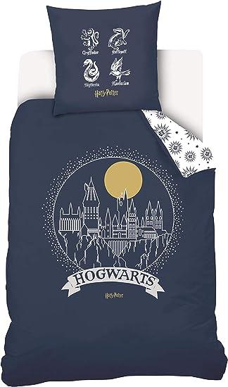 Copripiumino Harry Potter.Warner Harry Potter Parure Da Letto Copripiumino E Federa 100