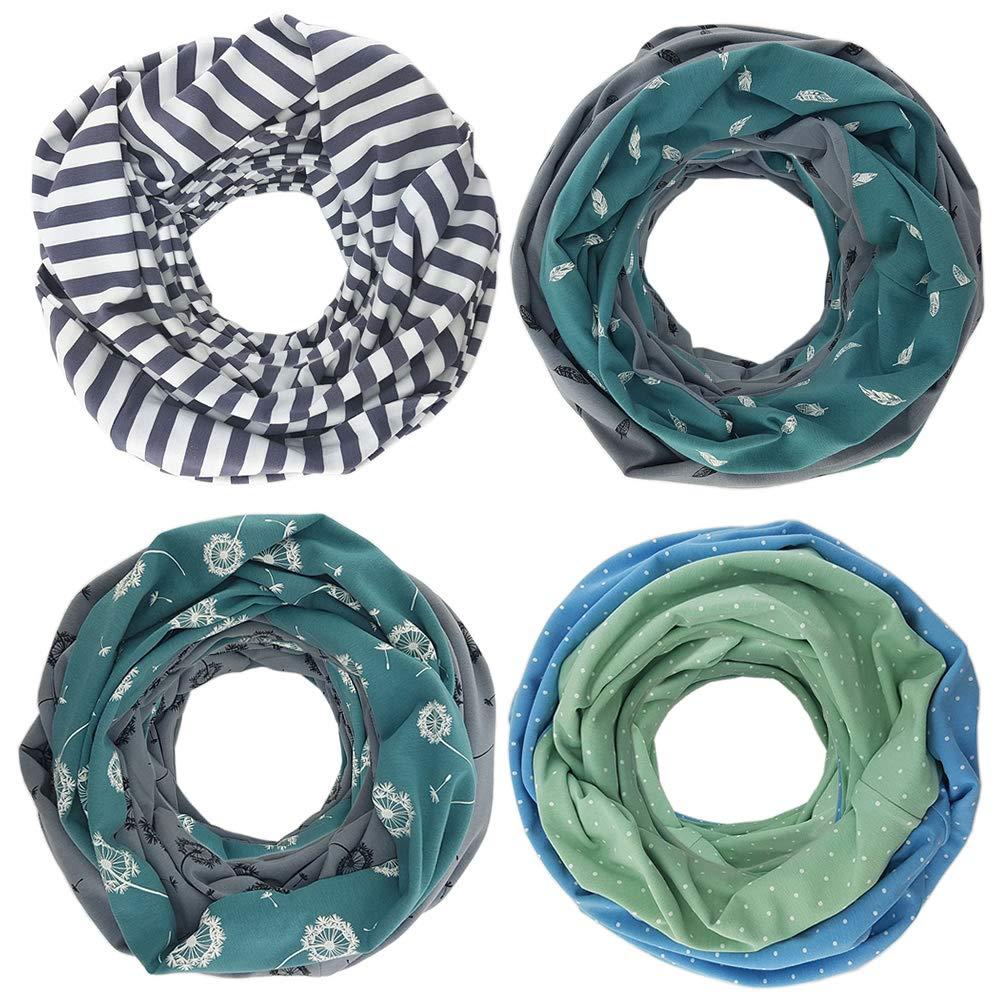 Punkte Mint Blau Stillschal Stilltuch 2in1 Halstuch Stillloop Still Loop Wendeschal Baumwolle ❤ SmukkeDesign NEU