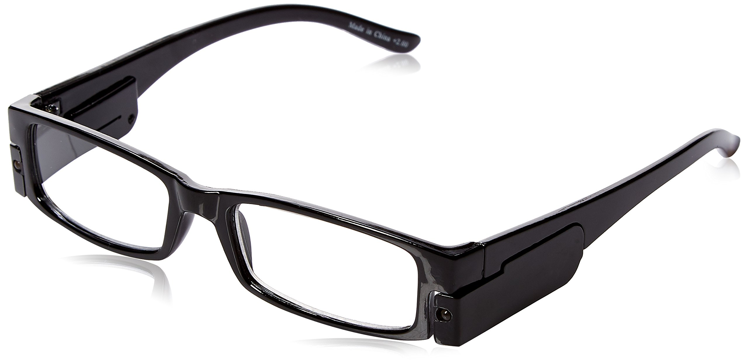 0a75029234a8 Amazon.com  Lighted Reading Glasses 2.00 Unisex Frames  Health   Personal  Care