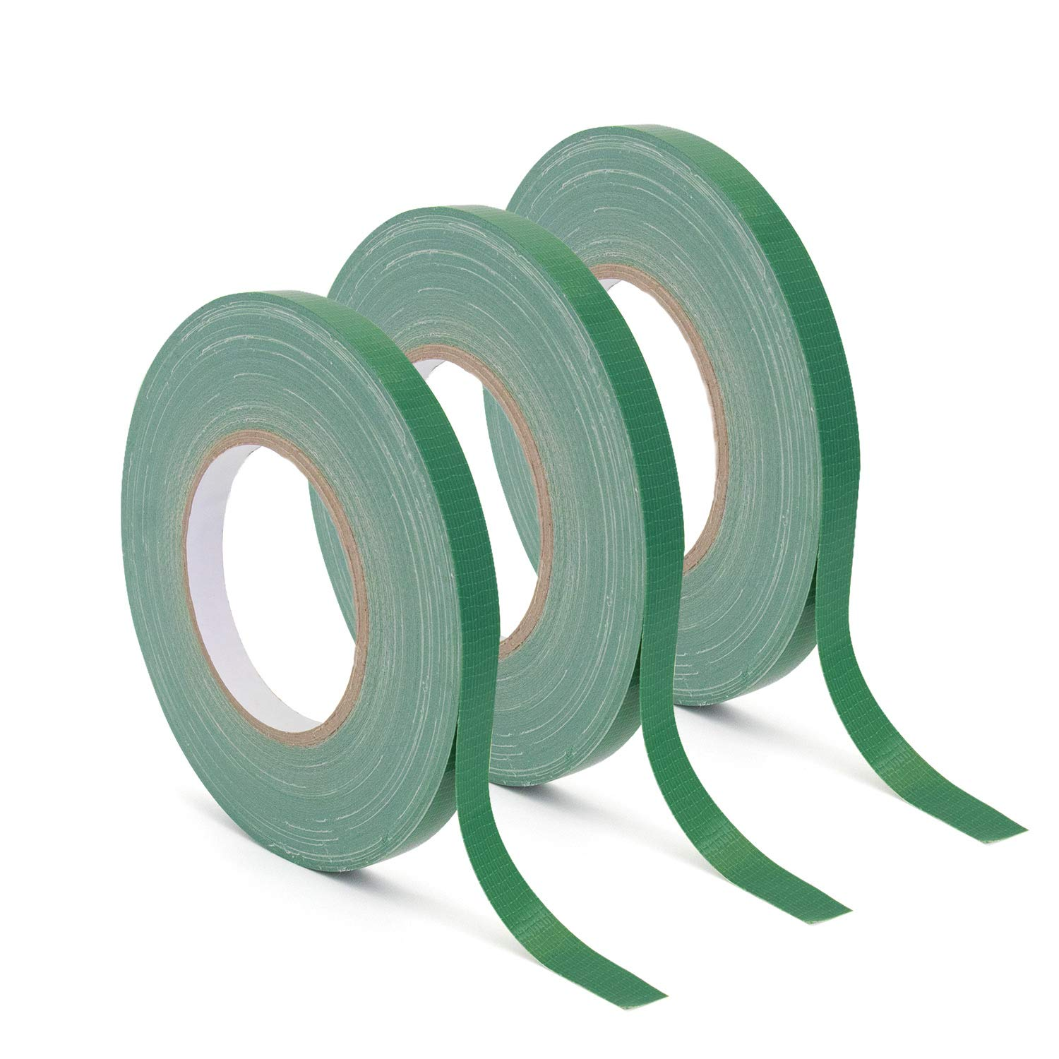 Floral Tape Green, Flower Wrap Adhesive Waterproof Tape for Bouquets by Royal Imports 0.5'' (60 Yd/180 Ft) - 3 Rolls Bulk