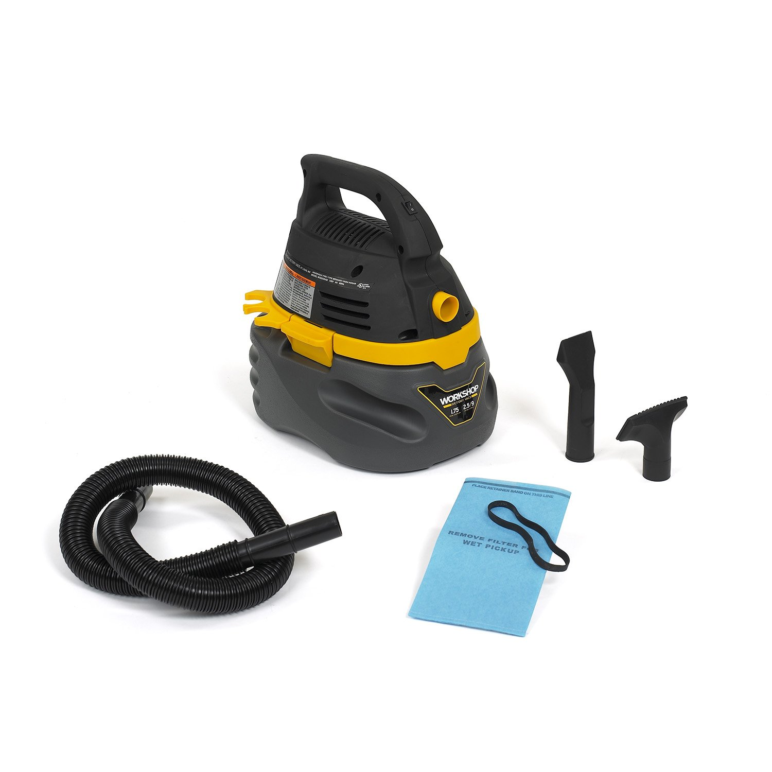 WORKSHOP Wet Dry Vac WS0250VA Compact, Portable Wet Dry Vacuum Cleaner