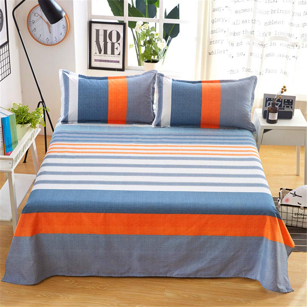Factory Direct Sales New Cotton Sanding Single Product Sheets Double Bed Student Bed Chengzhao National Strength Agent Fashion About - Orange 160230cm by iangbaoyo