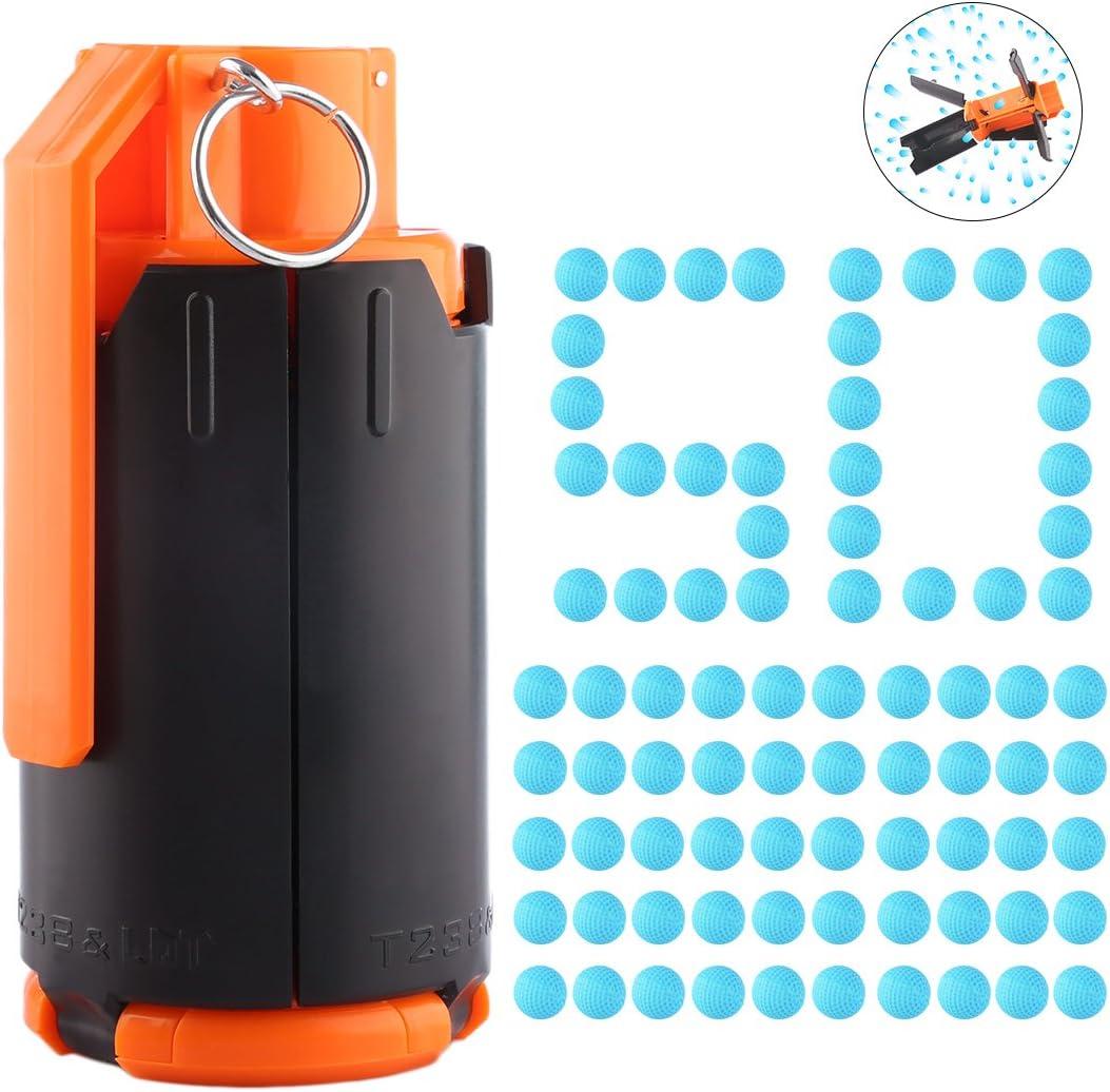 FOKOM 1Pack Granada Juguete Granada de Mano Water Beads Bomba + 50 Pack Dardos Bolas para Nerf Rival: Amazon.es: Juguetes y juegos