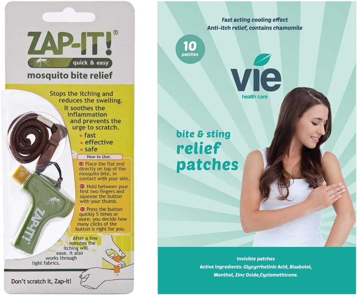 VIE Healthcare Alivio Antipicazón Para Mordedura Y Picaduras 10 Parches Invisibles Incluye Zap-It Bite 30 g: Amazon.es: Salud y cuidado personal