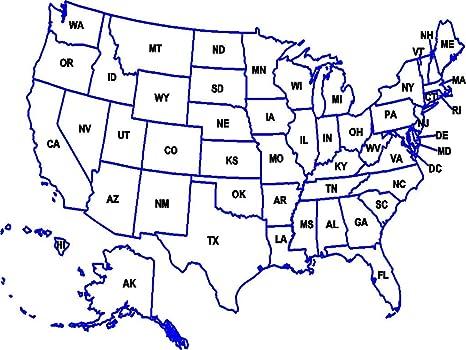Amazon.com: Home Comforts Laminated Map - Us Map ...
