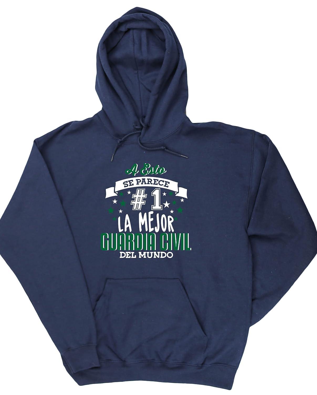 HippoWarehouse A Esto Se Parece #1 La Mejor Guardia Civil Del Mundo jersey sudadera con capucha suéter derportiva unisex: Amazon.es: Ropa y accesorios