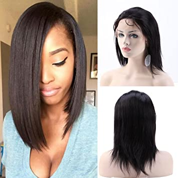 Full Lace Wig Human Hair Wigs for Black Women Straight with Baby Hair  Natural Hairline Swiss ed1489b3c