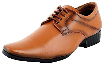 63588a24cf148 RJKART Faux Leather Partywear Casual Lace up Formal Office Shoes for  Men's/Boys