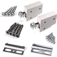 per anta Catture Heavy Duty magnetico heavy duty magnete spingere cattura armadio fermo bianco Large 43/x 15/mm con singola piastra e viti