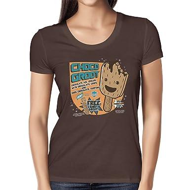 Texlab Choco Groot Ice Cream - Damen T-Shirt, Größe S, Braun