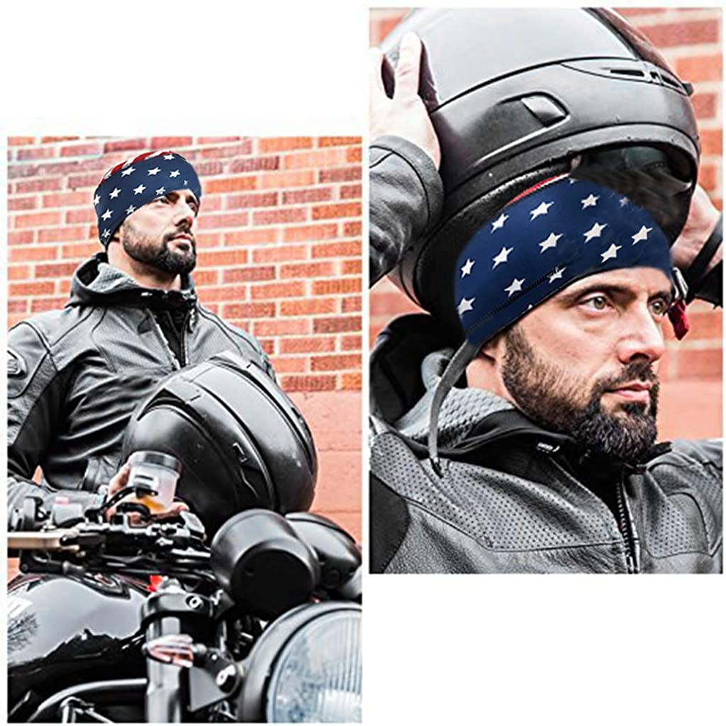 3 Packs Sweat-Wicking Beanie Cap Skull Cap Stars and Stripes Caps, Quick-Drying Pirate Hats for Men and Women Favors