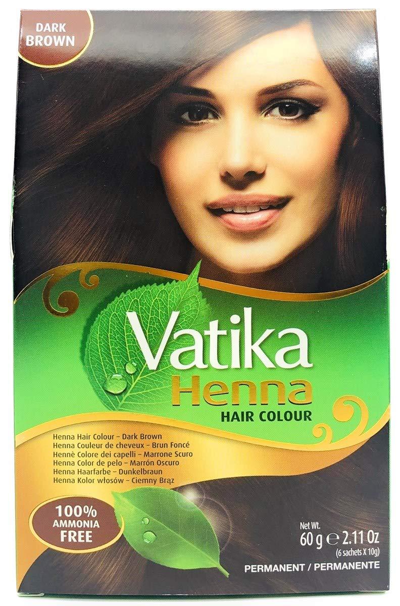 Dabur Vatika Henna Hair Colour, dark brown, 60 g