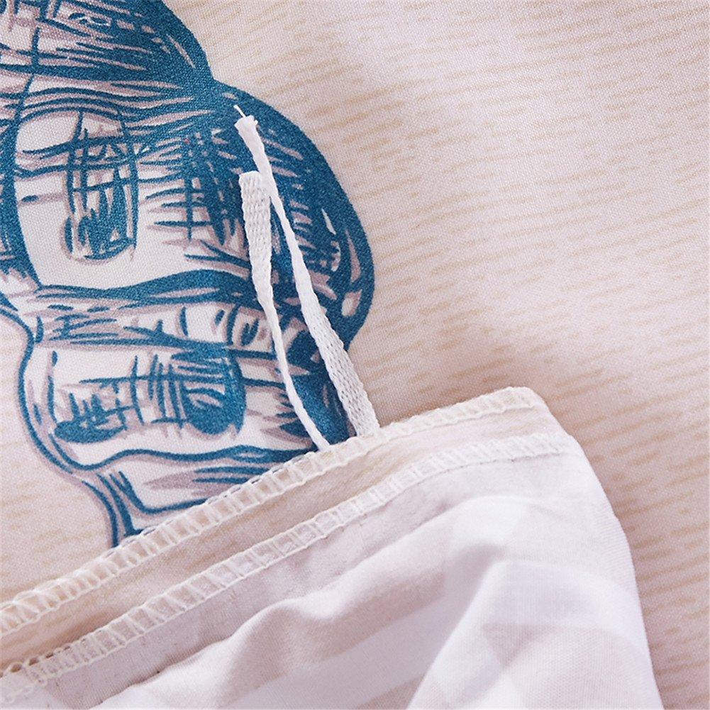140x200cm, Conque DOTBUY Parure de Lit 3 pi/èces Housse de Couette Microfibre Confortable Ensemble de Literie Chambre /à Coucher /Él/égant Classique Lit Imprim/é Taies doreiller