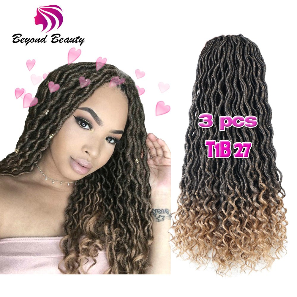 Amazon Wavy Faux Locs Crochet Hair Curly Ends Synthetic