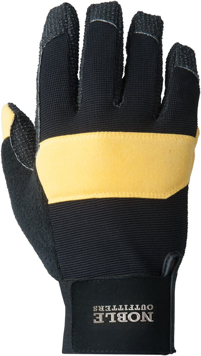 Noble Outfitters Working Hay Bucker Pro Glove Horseback Tough Heavy Duty Gloves Black and Tobacco XL