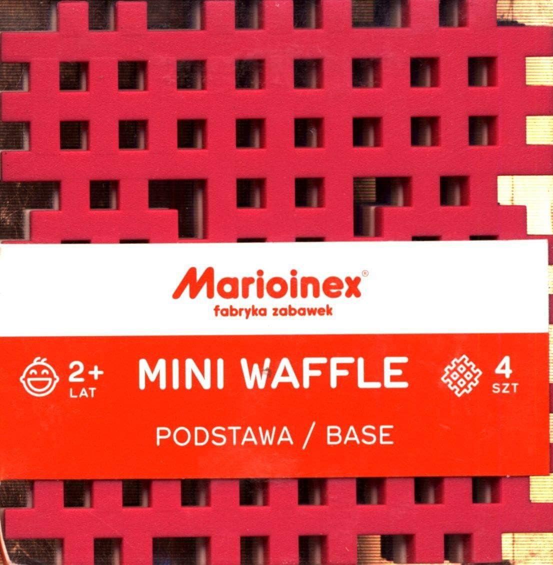 Mehrfarbig 4 St/ück Marioinex Mario-Inex 902608 Mini-Waffel-Basis