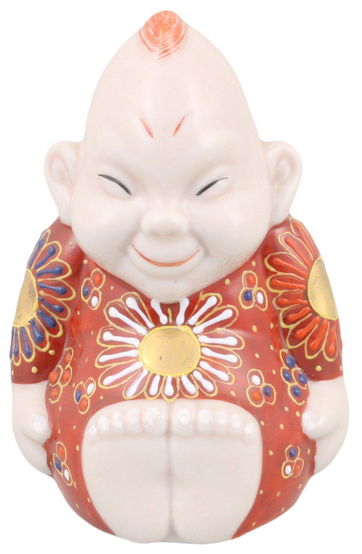 九谷焼 福の神 ビリケン 4号 唐草緑 A-0029 B01IGAL2GQ 4号|唐草緑 4号