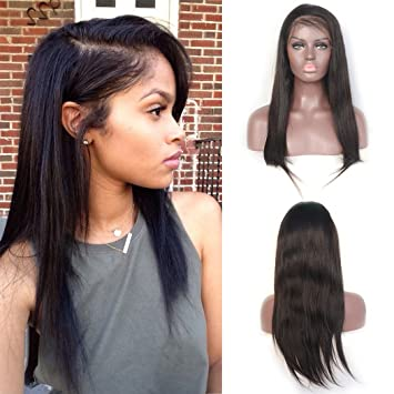 Luwigs 13x6 Lace Front Wigs Brazilian Straight Human Virgin Hair for Black Women Long Parting Lace