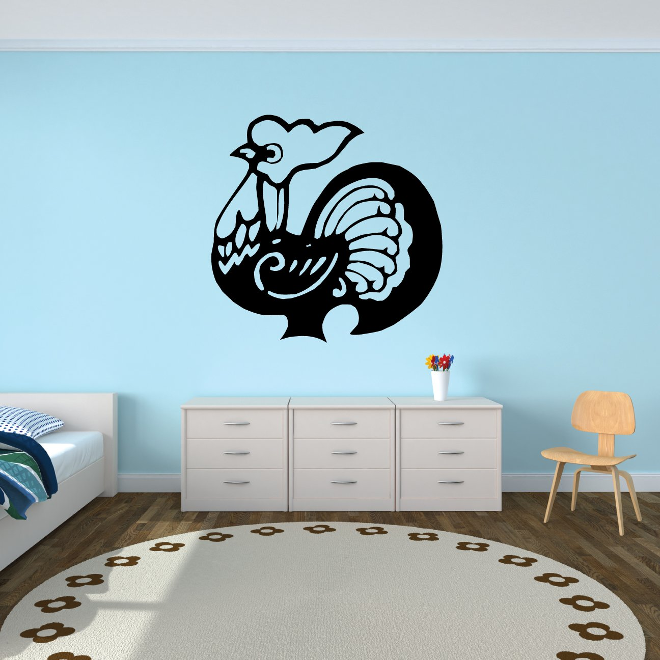 Amazon.com: Rooster Chinese Zodiac Wall Decal Sticker - Decal ...