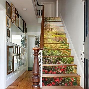 YYH 13 Stück Treppen Personalisierte Dekoration Umweltfreundliche  PVC Aufkleber HD Außenwand Aufkleber Wasserdichte Tapete
