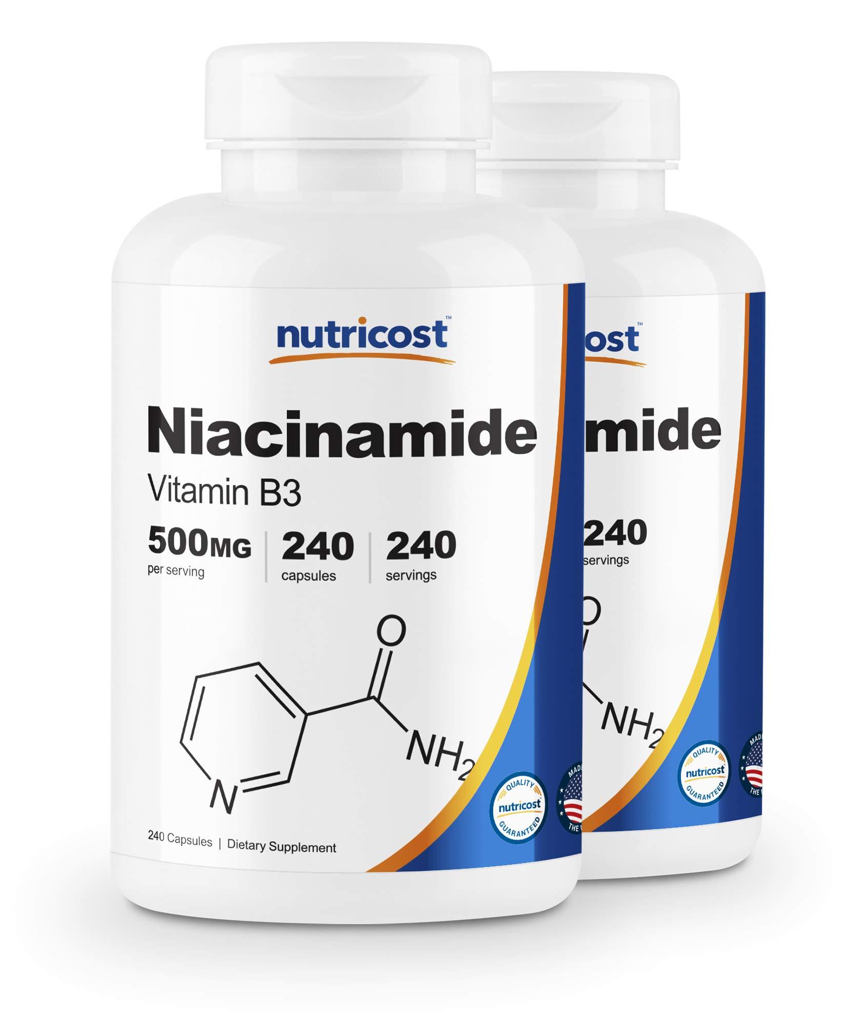 Nutricost Niacinamide (Vitamin B3) 500mg, 240 Capsules (2 Bottles)