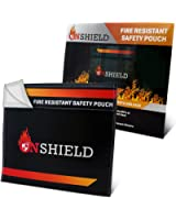 Fire Resistant Document Bag by OnShield 12'' x 11'' | Heavy Duty and Non-itchy Fireproof Document Bag | Fireproof Money Bag for Cash, Birth Certificate, Passport, Titles, Jewelry, Important Documents