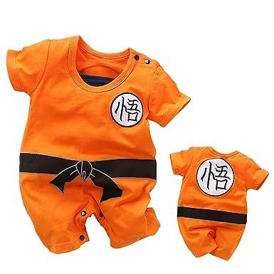 361715df9 YFYBaby Baby Boys Dragon Ball Z Romper Newborn Goku Costume Jumpsuit Outfit  Playsuit Set Orange