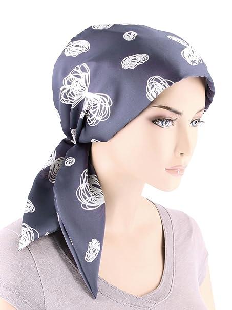 7059c5560ed Chemo Fashion Scarf Easy Tie Turban Hat Headwear For Cancer Waverly Blue  Gray