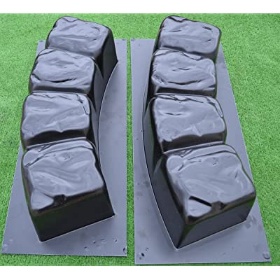 Betonex 2 MOLDS 47.2 inch ROUND EDGE STONE CONCRETE MOLD Edging Border ABS Plastic #BR04 : Garden & Outdoor