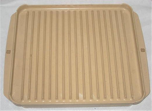 Littonware - Bandeja de horno para microondas (reversible ...