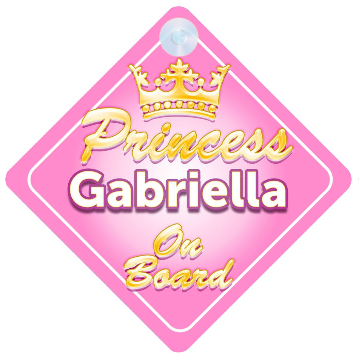 Non Personalised Child//Baby On Board Car Sign ~ Nanas Princesses On Board~Purple