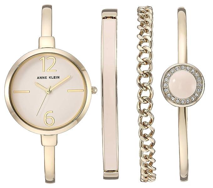 af0cb38f9777 Anne Klein AK 3290 - Reloj de pulsera para mujer con pulsera con cristales  Swarovski