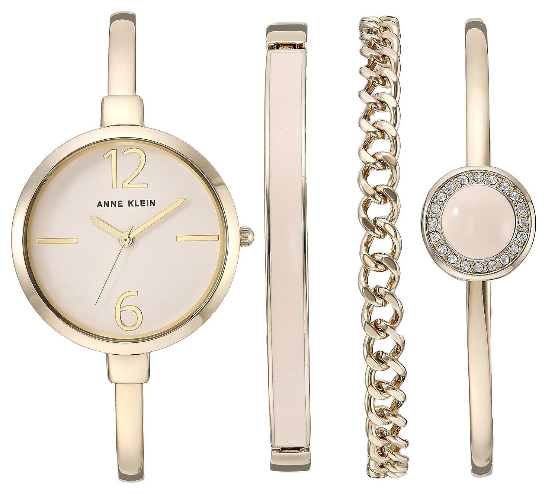 Anne Klein Women s Bangle Watch and Swarovski Crystal Accented Bracelet Set