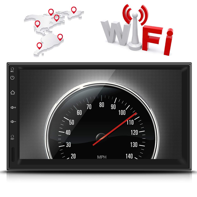 LESHP 2 Din Autoradio Bluetooth 7 Zoll Touchscreen HD+GPS Navigator+Universal Radio+Mirrorlink+WiFi//Unterst/ützt Video HD//Lenkradsteuerung//USB//SD//AV-Out//R/ückfahrkamera 170/° Nachtsicht