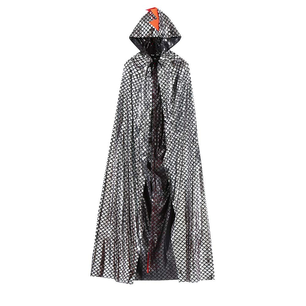 ZARLLE Capa con Capucha Disfraces para Adultos Disfraces de Halloween bebés de Halloween del Dinosaurio del Partido de la Capa Cape Robe Outfits Clothes (120, Oro)