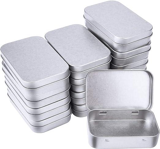 SUNMNS Mini caja de aluminio pequeña de metal rectangular vacía ...